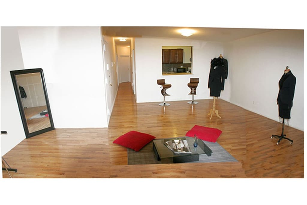 "VIEW OF THE 650"" SQUARE FOOT  BEAUTIFUL FASHION GALLERY LIVING ROOM"