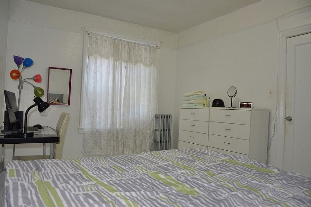 Bedroom with two dressers