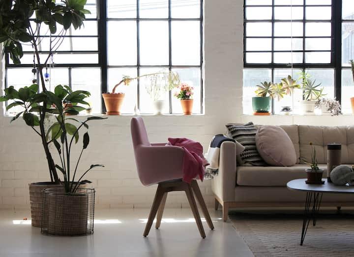 Light and bright loft style studio
