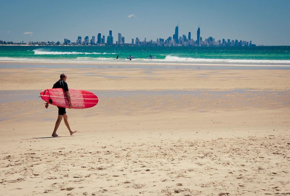 Learn to Surf at our local Tugun/Currumbin beaches