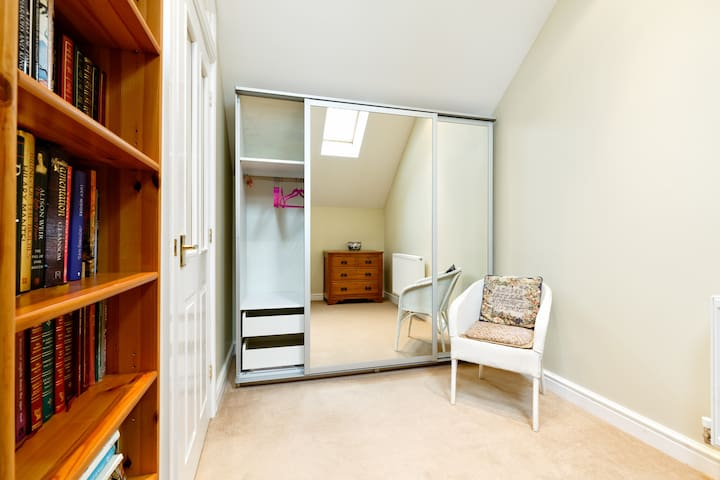Dressing room with fitted wardrobe