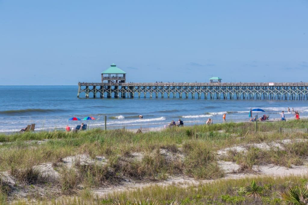 View of the Folly Beach Pier