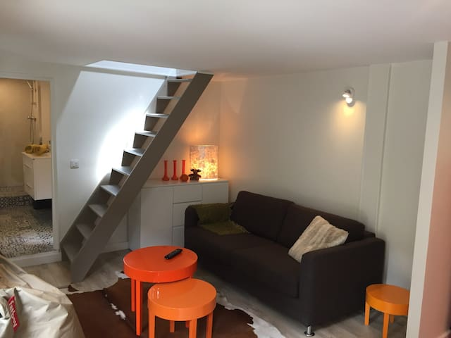 Studio duplex town center - 25mn of Paris - Verneuil-sur-Seine - Apartment