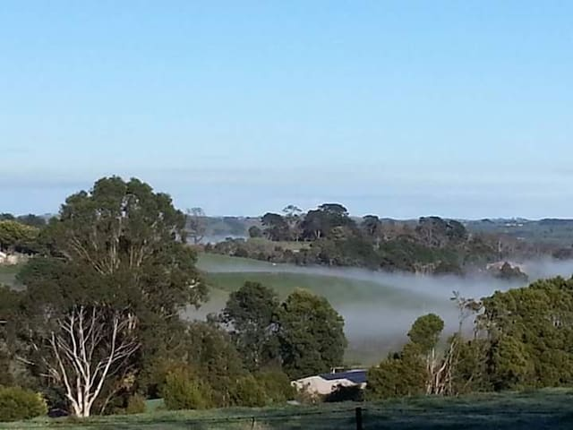 Mist in the hills if Korumburra.