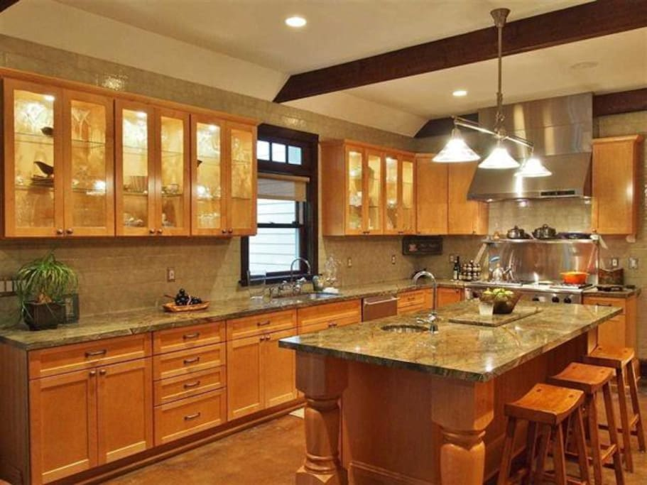 Chef Kitchen with radiant heated floors
