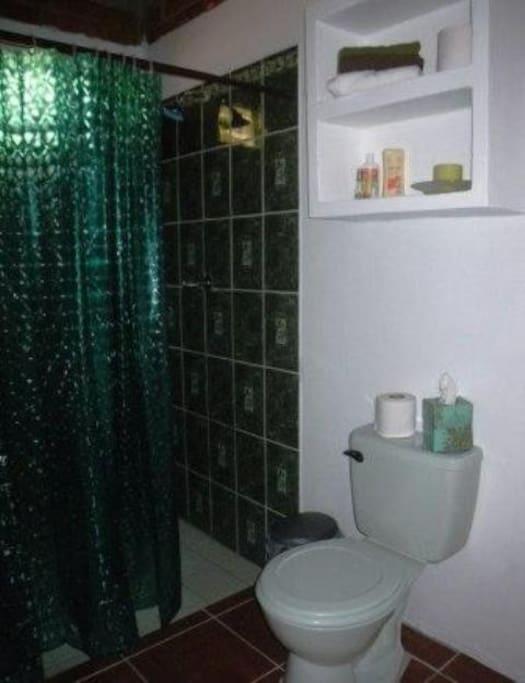 Jungle Cabana, La Morada, bathroom