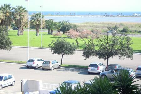 Flat front Poetto's beach Cagliari