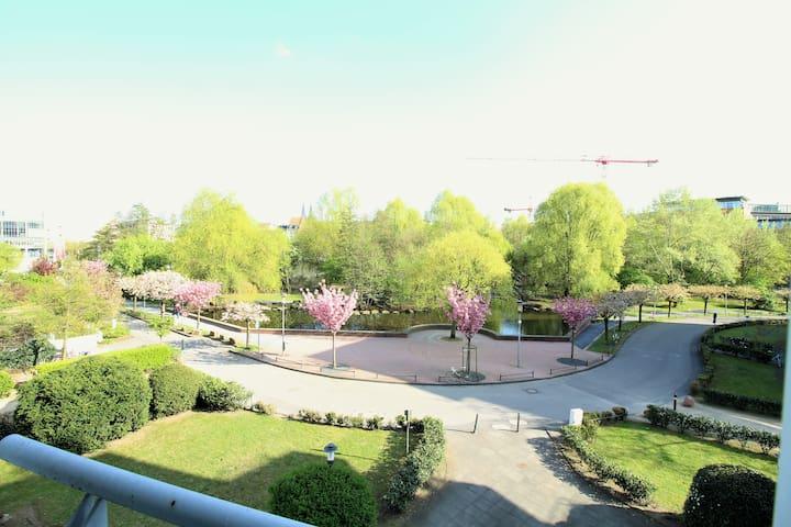 Cozy & quiet room in city center with park view - Köln - Daire
