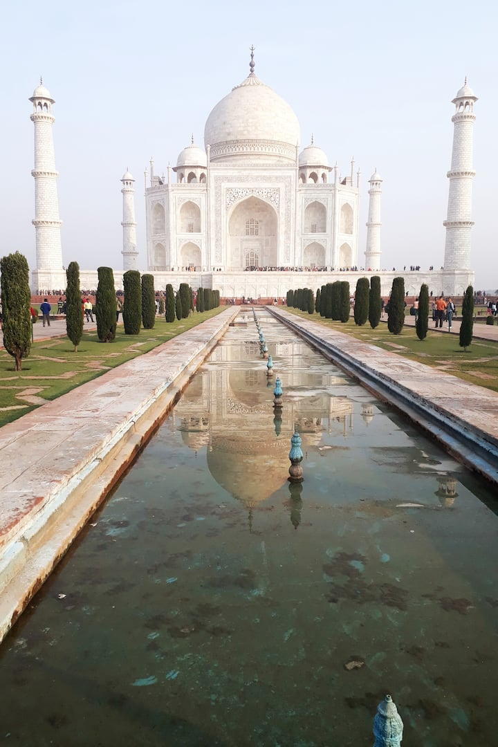Taj Mahal and Its reflection