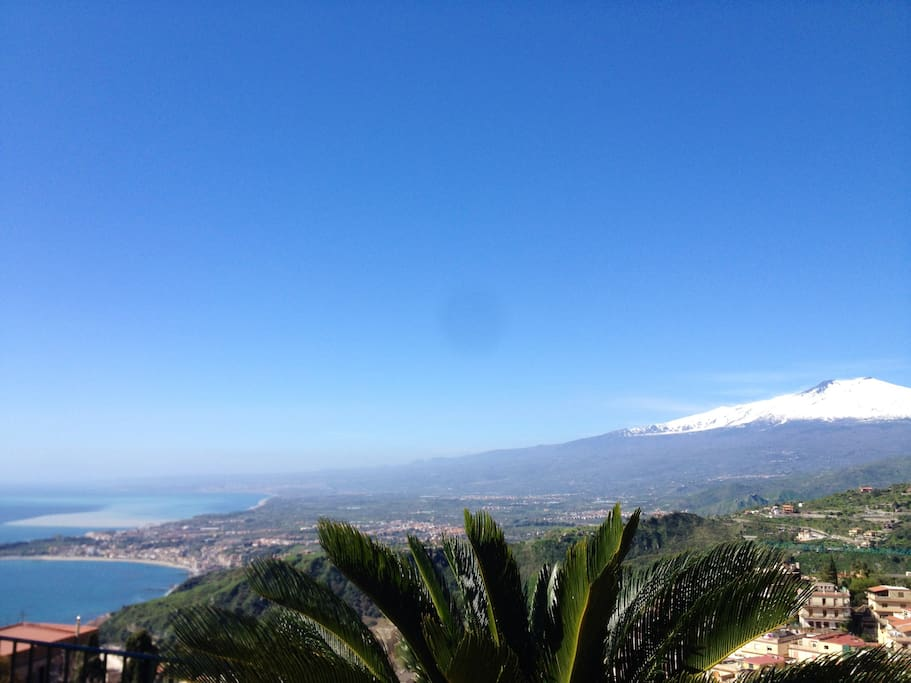 Wonderful views of the Mediterranean Sea, the Gulf of Naxos and her majesty Etna