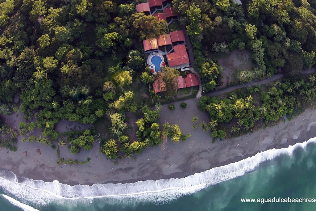 Agua Dulce Beach Resort...bird's eye view.
