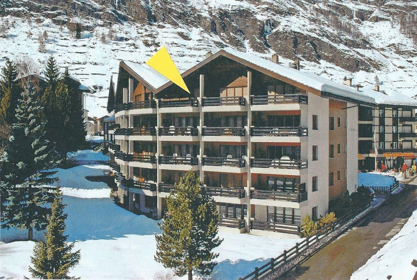 Hier oben verbringen Sie ihre wohlverdienten Ferientage in Zermatt.