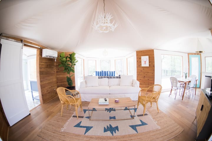 Stargazer Tent at Wahwahtaysee Resort! *glamping*