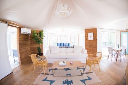 Stargazer Tent at Wahwahtaysee Resort! *glamping*