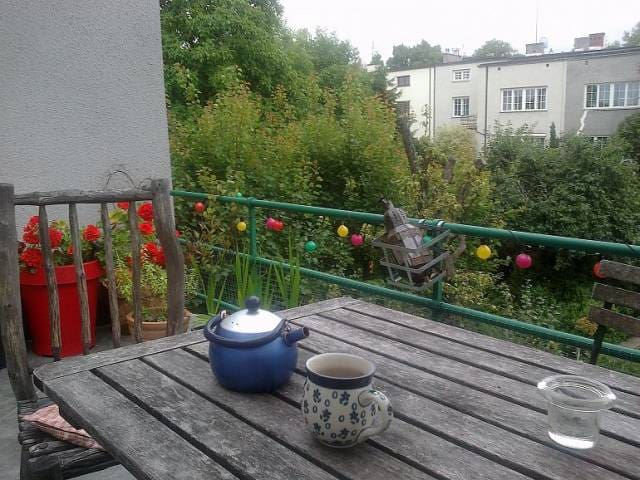Super spot (CENTRUM 7min) Flat with huge terrace! - Warszawa - House