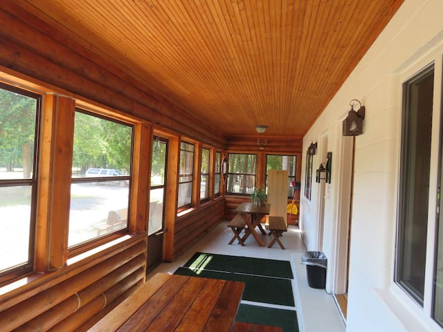 This is the covered porch shared with room #12