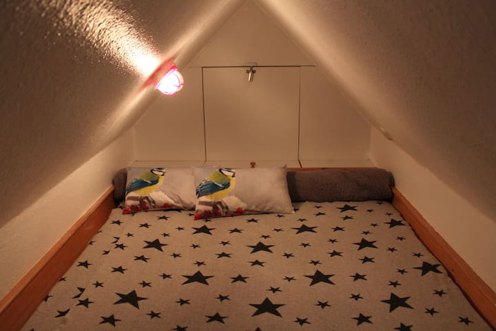 DG Galerie Bett 140 x 200m. Koje / Gaube finden nicht nur Kiinder traumhaft...