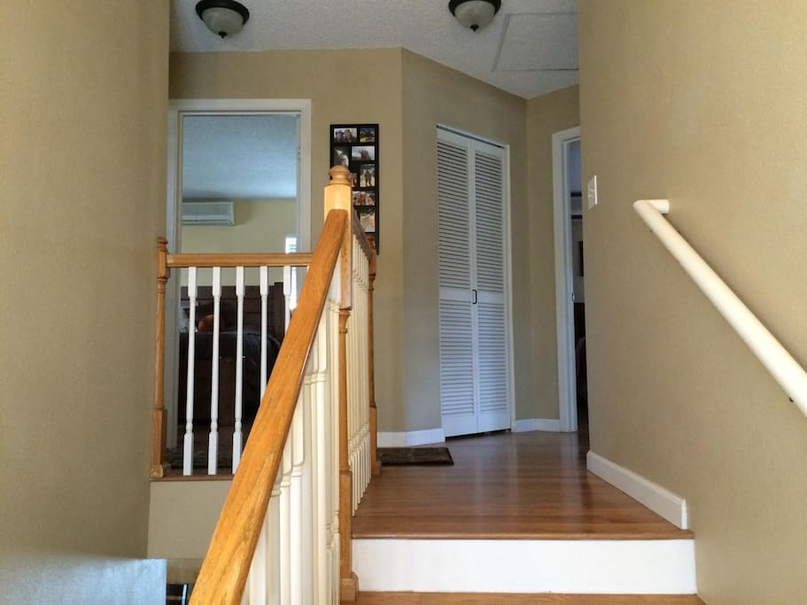 Steps to guest room