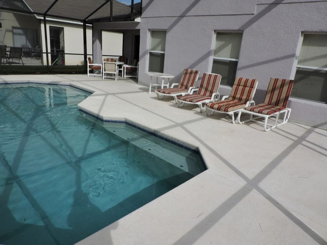 Your own private pool, lots of room for relaxing.