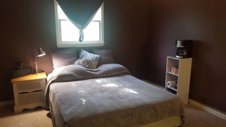 Master bedroom with bathroom/shower
