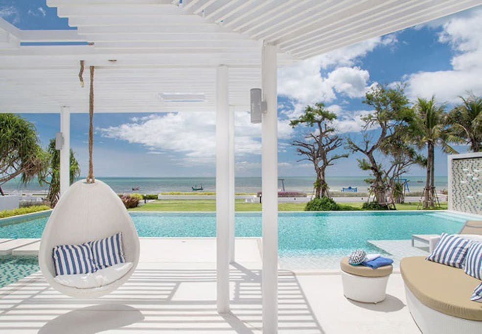 Swimming Pool and Relax Area @ Beachfront