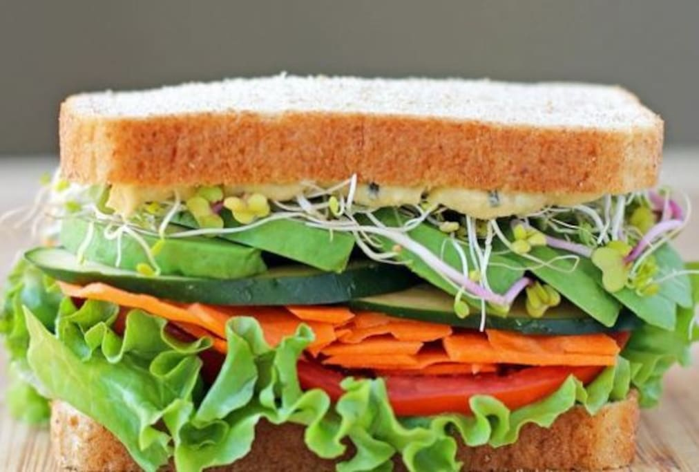 Veggie Sandwich is on the menu