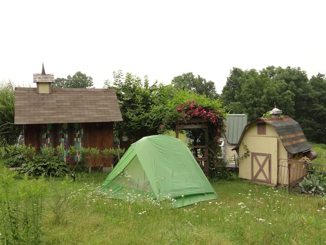 Tenting among Karenville's Magic - Ithaca