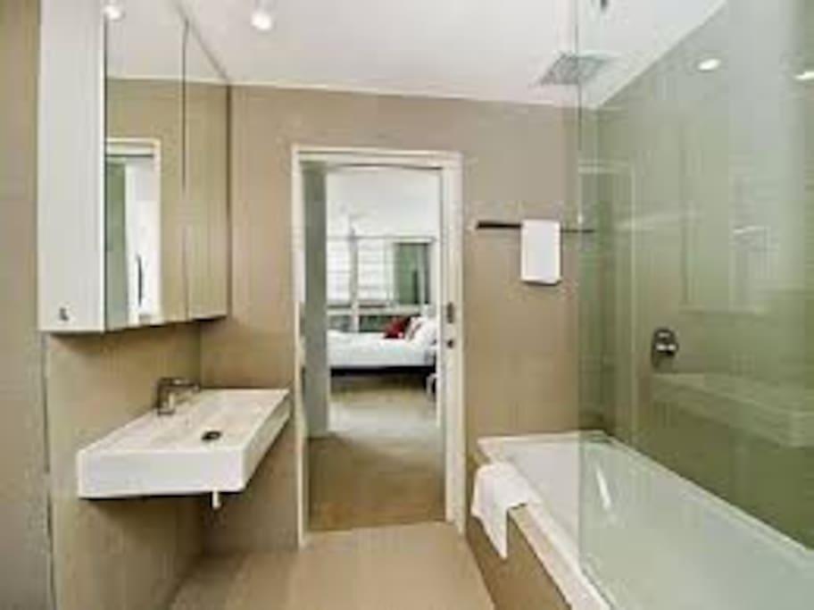Bathroom flowing through to Bedroom