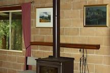 Carisbrook Lodge - Wood Heater in Lounge