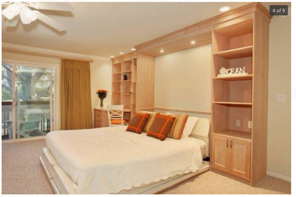 King Murphy Bed in addition to double bunk beds (not shown)