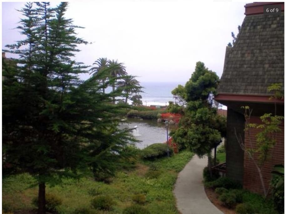 Private stairs to Del Mar Beach