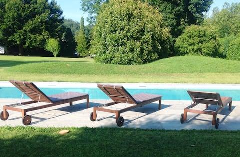 Villa con piscina e parco in bassa Valsesia