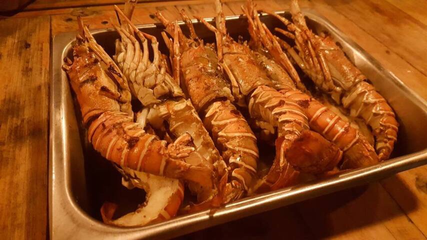 Lobsters - Seafood Barbecue Dinner