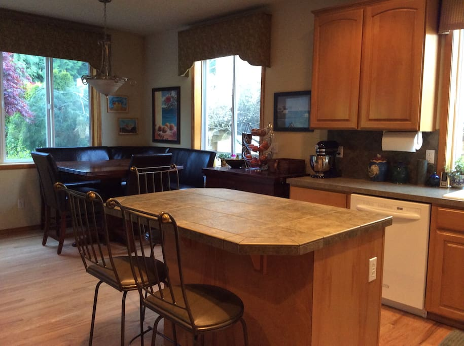 Kitchen fully equipped and two refrigerators available.