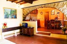 living room + kitchen ground floor