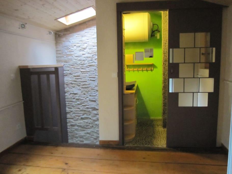 Chambre étage + salle de bain