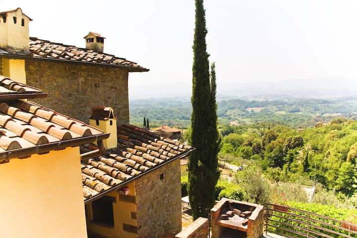 view over the Chianti hills