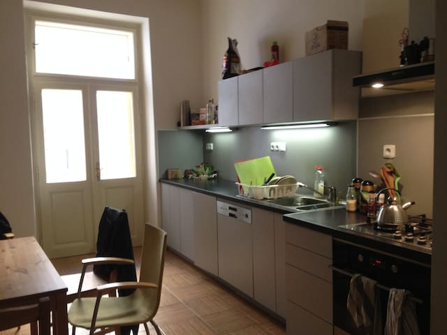 Common kitchen, also known as gathering area
