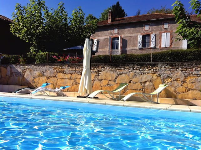 Pyrenees Bed and Breakfast, panoramic views, pool - Loudet