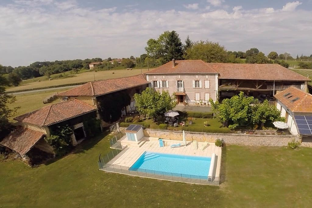 Our beautiful home Le Couloumé, traditional Maison de Maitre, in a beautiful setting in Loudet, a small village in an area often referred to as Little Pyrenees.