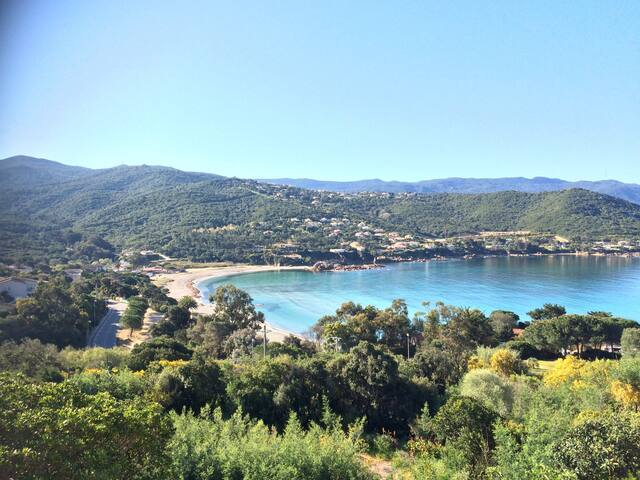Top Terrasse vue sur la Plage du Ruppione Corse - Pietrosella - Hus