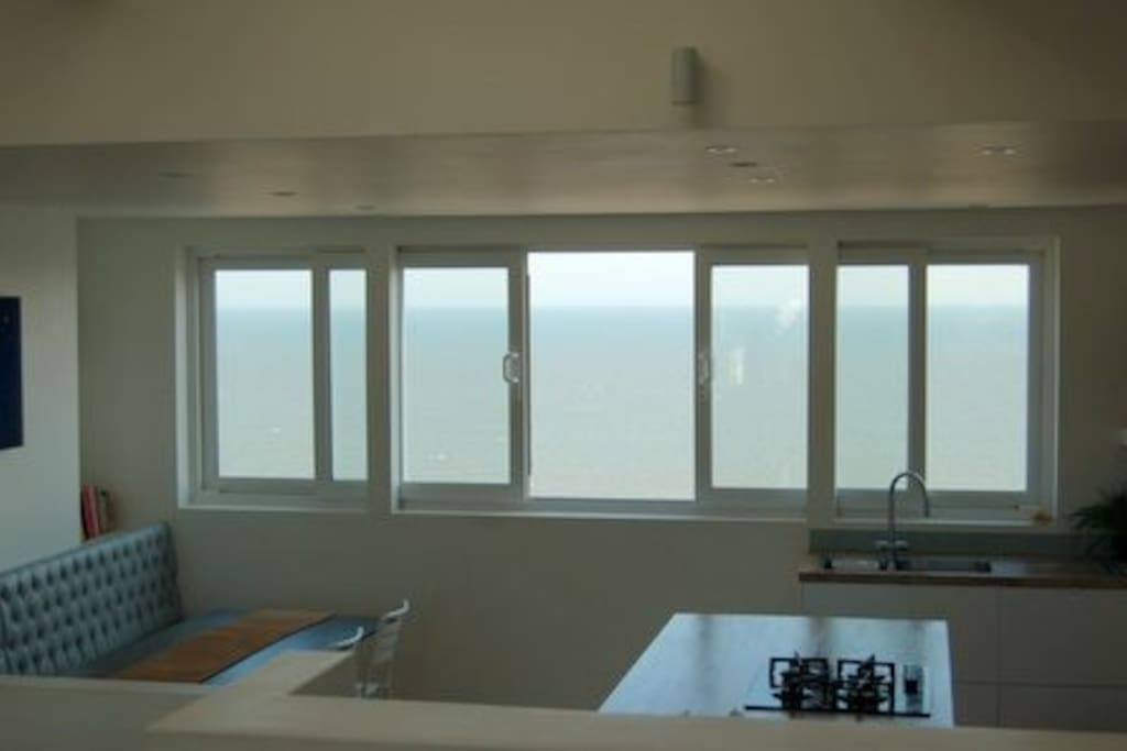 open plan living with full seaviews.