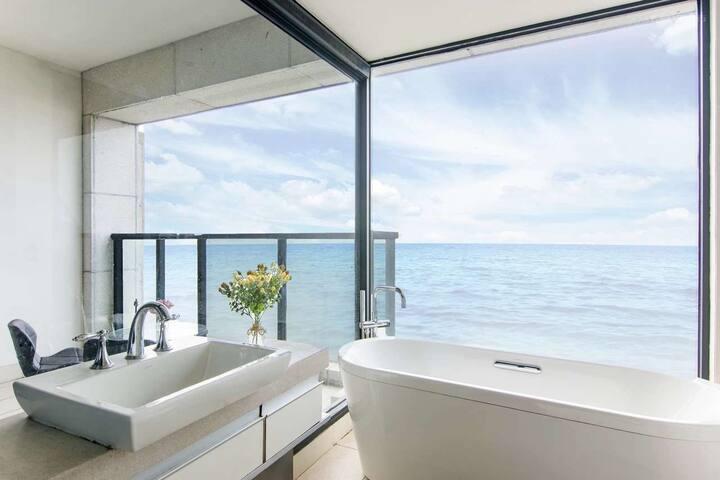 浪漫拾光高层海景浴缸大床房1(多套,均为一线无敌海景房)