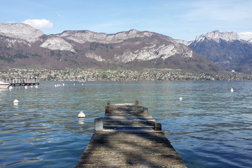 Bord du lac à 50 mètres