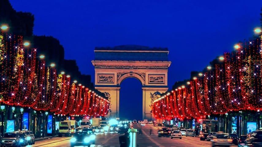 Studio 5mn PARIS 4 personnes