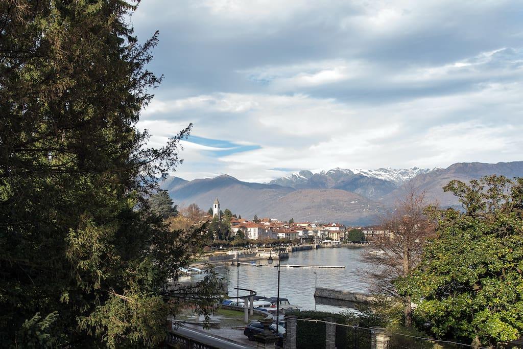 splendida vista sul lago Maggiore