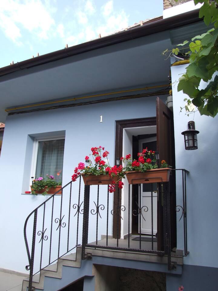 The house entrance - summer