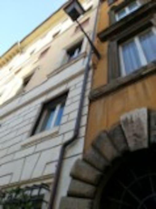 The Studio (Outdoor closed to Via Giulia).  The Building of XVI Century