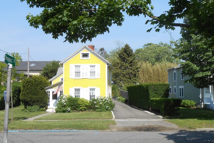 Southampton Village Vintage Little Yellow House: