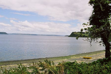 House in Chiloe facing the see